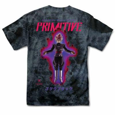 Primitive X Dragon Ball Goku Black Rose póló Washed Black