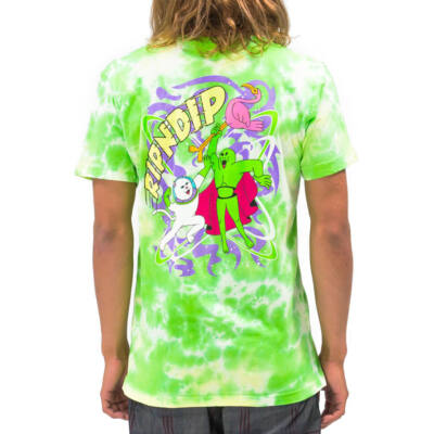 Ripndip Astronomic póló Green Lightning Wash