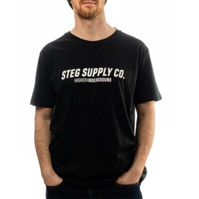 Stég Supply Co. póló Black
