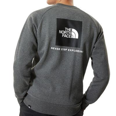 The Norht Face Redbox Raglan crew pulóver TNF Medium Grey Heather