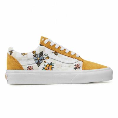Vans Old Skool cipő Garden Check True White Yellow