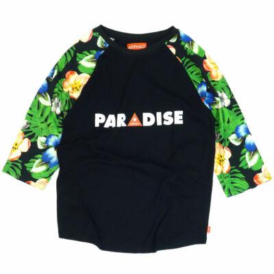 Asphalt Yacht Club Paradise raglan Black-Floral