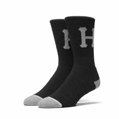 HUF Classic H Crew Zokni Black/Heather 1 pár