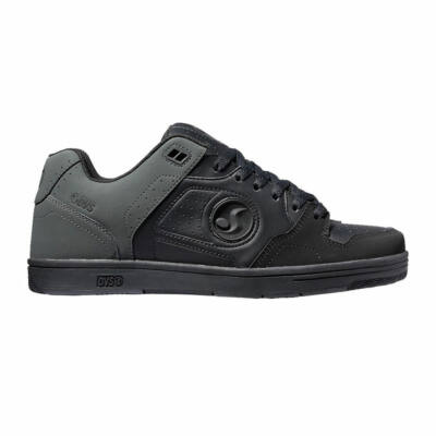DVS Discord Black/Grey/Black Nubuck Leather