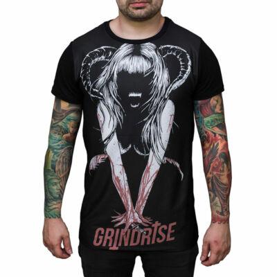 Grindrise Demon Bltch póló Black