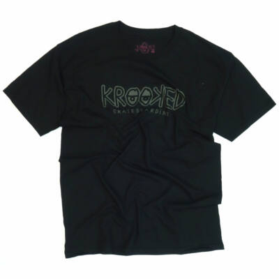 Krooked Label póló Black