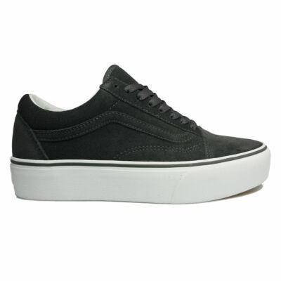 Vans Old Skool Platform (Suede) cipő Asphalt/True White