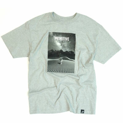 Primitive Desert Wolf póló Heather Grey