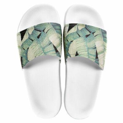 Slydes Palm Jungle papucs White