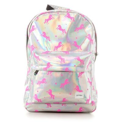 Spiral OG hátizsák Silver Pink Unicorns