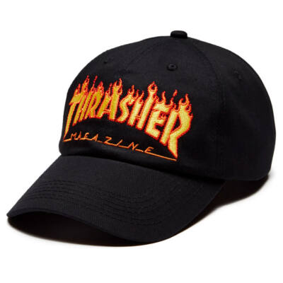 Thrasher Flame Old Timer sapka Black