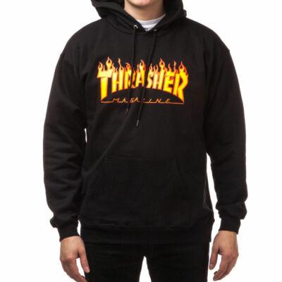 Thrasher Flame pulóver Black