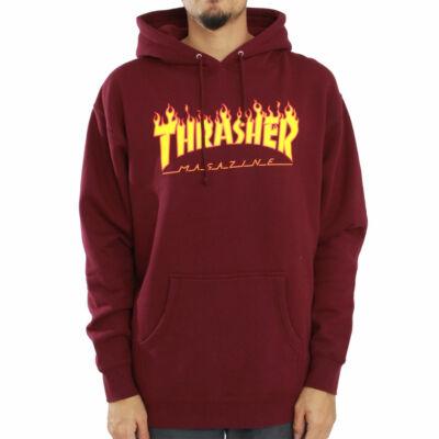 Thrasher Flame kapucnis pulóver Maroon