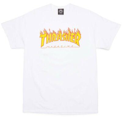 Thrasher Flame póló White