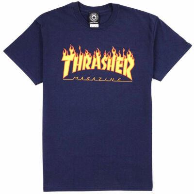 Thrasher Flame póló Navy