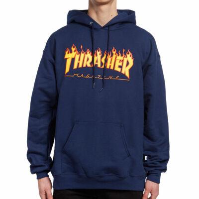 Thrasher Flame pulóver Navy