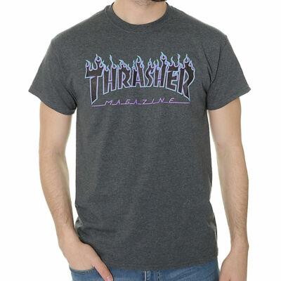 Thrasher Flame póló Dark Heather