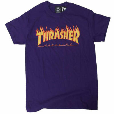 Thrasher Flame póló Purple