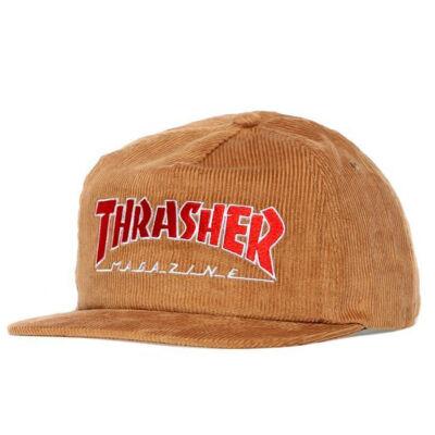 Thrasher Magazine Logo kordbársony sapka Gold
