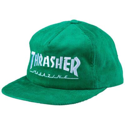 Thrasher Magazine Logo kordbársony sapka Green