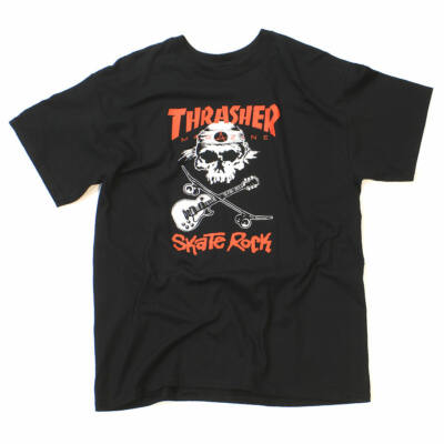 Thrasher New Sk8 Rock póló Black