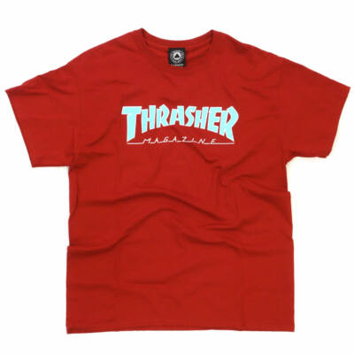 Thrasher Outlined póló Cardinal Red