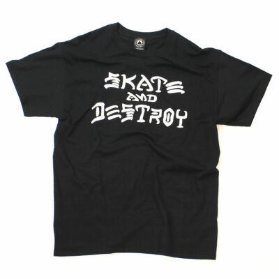 Thrasher Skate & Destroy póló Black