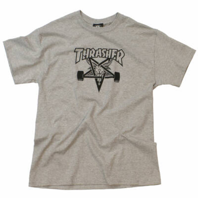 Thrasher Skategoat póló Heather Grey