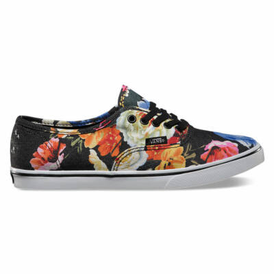 Vans Authentic Lo Pro (Floral) Black/True White