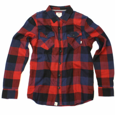 Vans Box Flannel ing Red Dhalia
