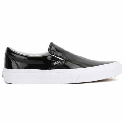 Vans Classic Slip-On (Tumble Patent) cipő Black