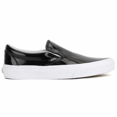 Vans Classic Slip-On (Tumble Patent) cipő Black