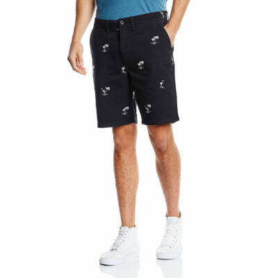Vans Dewitt Monogram Short rövidnadrág Black Flocking Dead