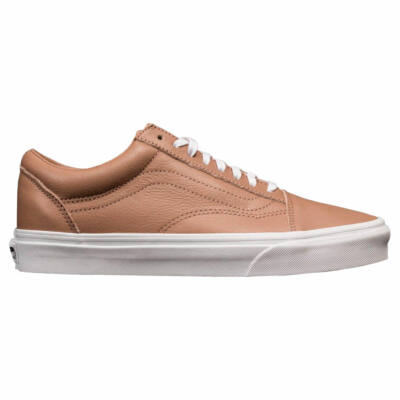 Vans Old Skool Leather cipő  Tawny Brown - True White