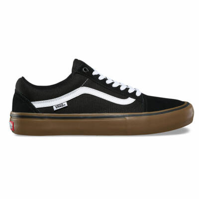 Vans Old Skool Pro cipő Black/White/Medium Gum