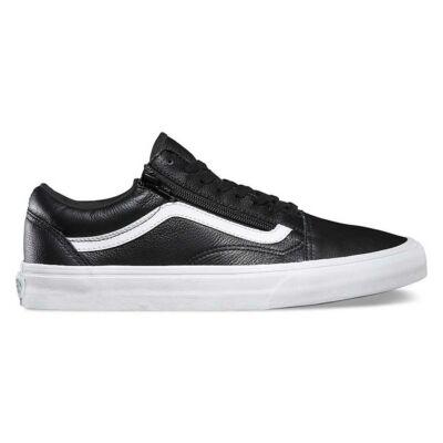 Vans Old Skool Zip (Premium Leather) Black