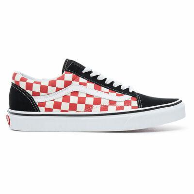 Vans Old Skool Checkerboard cipő Black/Red