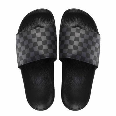 Vans Slide-On papucs Checkerboard Black Asphalt