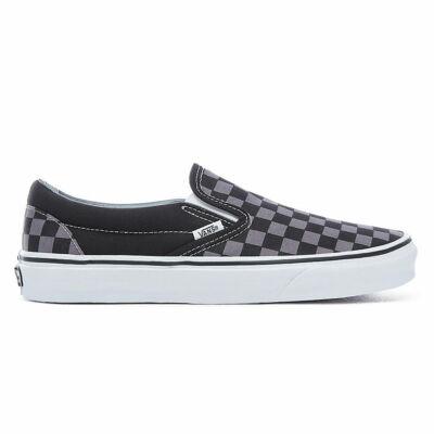 Vans Slip-On cipő Black & Pewter Checkerboard