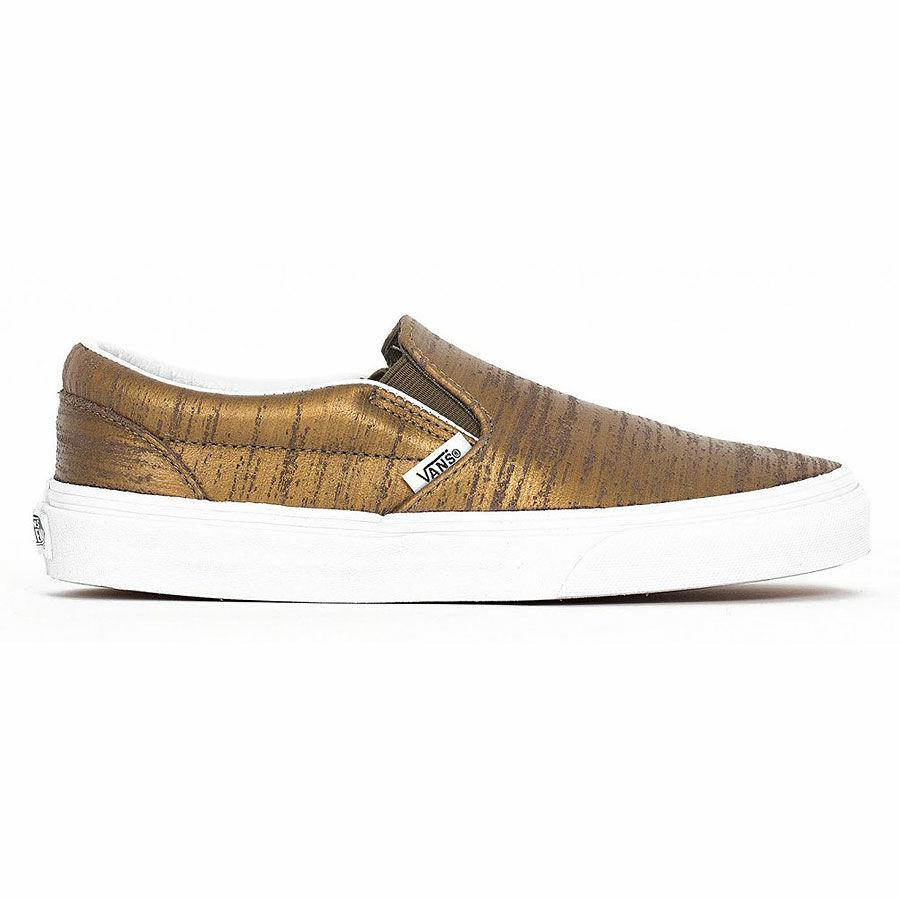 eed0ba5645 Vans Classic Slip-On (Brushed Metallic) cipő Gold