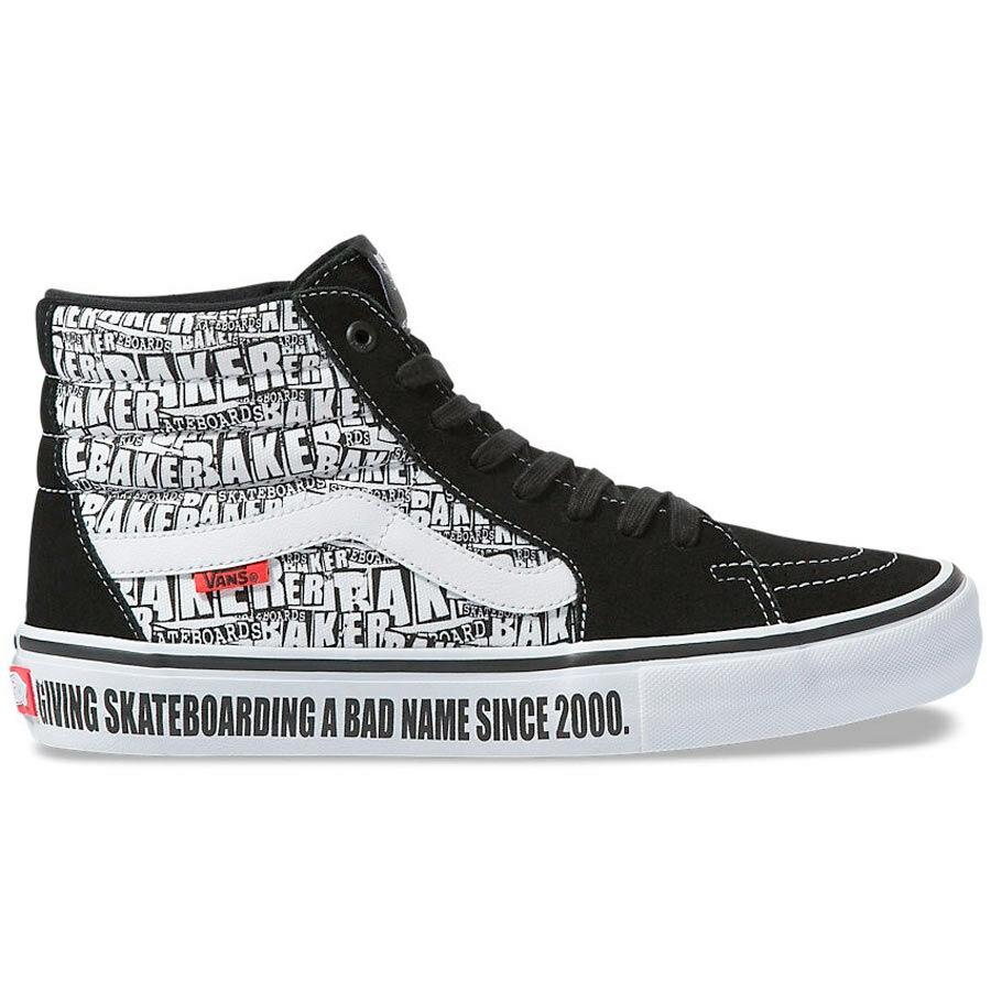 Vans X Baker Sk8 Hi Pro cipő Black White